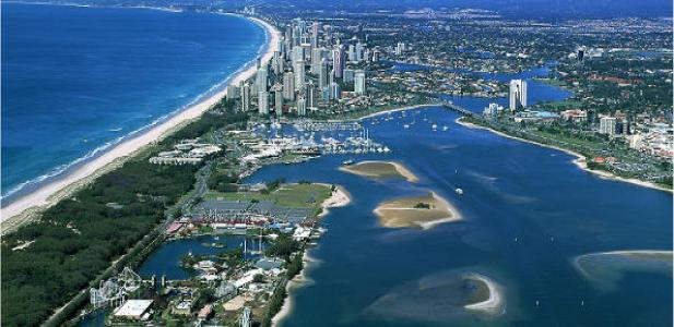 Gold Coast Accommodation Surf Beach Aerial View